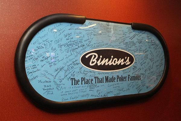 Binions Poker Table