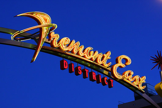 Fremont East District In Downtown Las Vegas