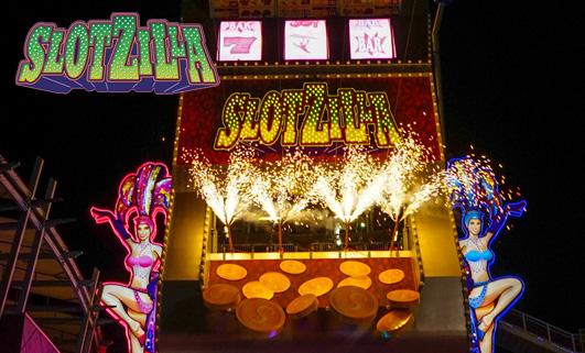 Slotzilla Zipline Front Show Girls