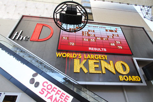 Worlds Largest Keno Board At The D In Las Vegas