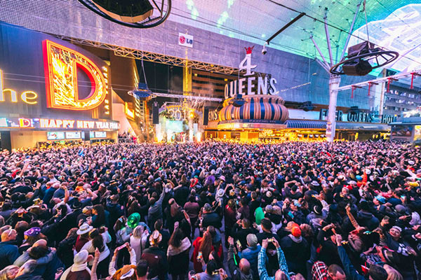 What to Expect for New Year's Eve at Fremont Street Experience