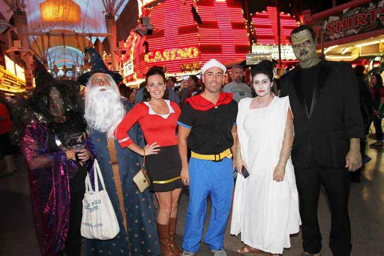 Halloween costumes on Fremont Street in downtown Las Vegas